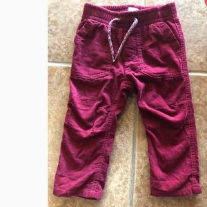 BABY GAP Jersey Lined Corduroy Pants 12-18 Months